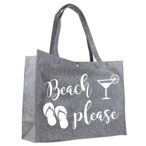 Vilten Shopper Beach Please wit