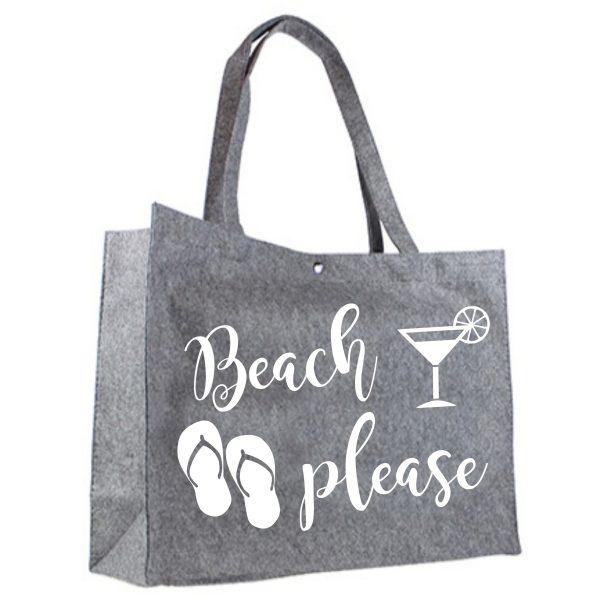 Vilten Shopper Beach Please wit