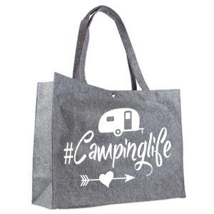 Vilten Shopper Camping Life wit