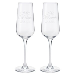 Champagneglazen set Mr & Mrs