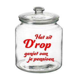 grote Snoeppot Het zit D'rop Pensioen