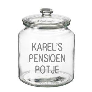 grote Snoeppot Pensioenpotje