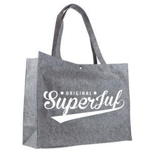 Vilten shopper original superjuf wit