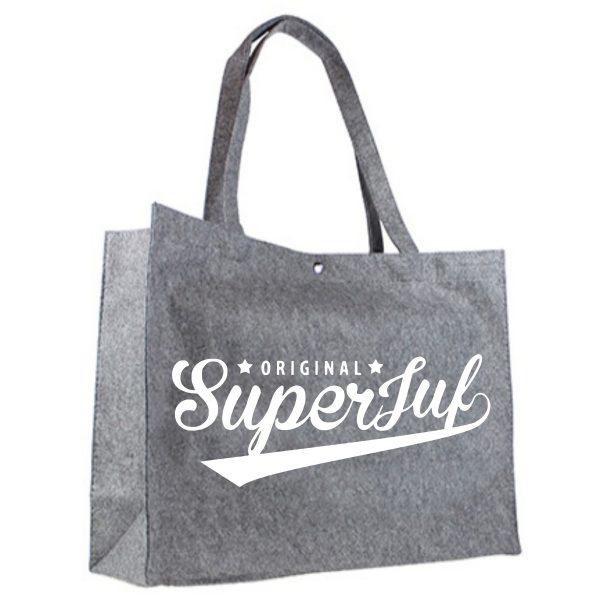 Vilten shopper original superjuf wit