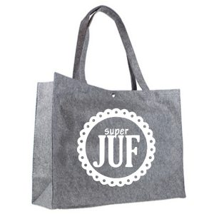 vilten shopper Superjuf wit