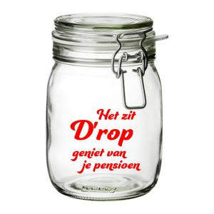 snoeppot Het zit Drop Pensioen