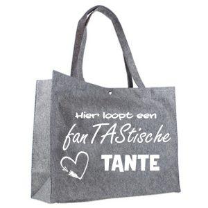 vilten shopper fanTAStische tante wit