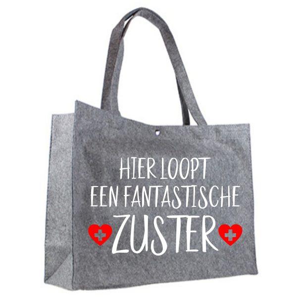 vilten shopper fanTAStische zuster wit