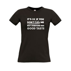 shirt It's OK if you don't like me zwart