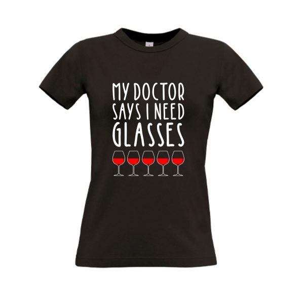 shirt my doctor says zwart
