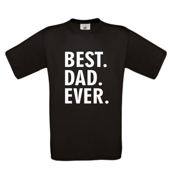 shirt Best dad ever zwart