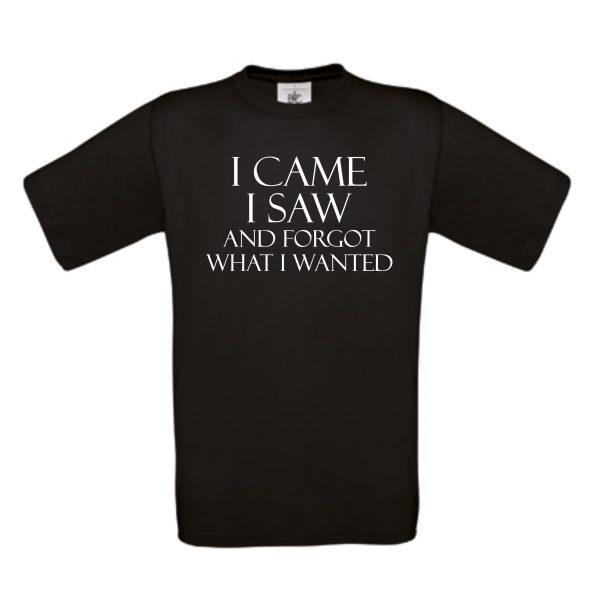 shirt I Came I Saw zwart