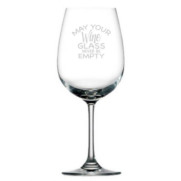 wijnglas Never empty