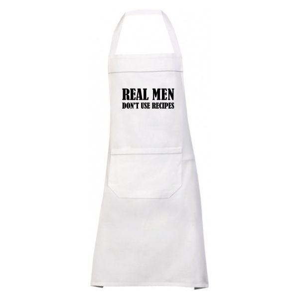 Schort Real Men wit 1
