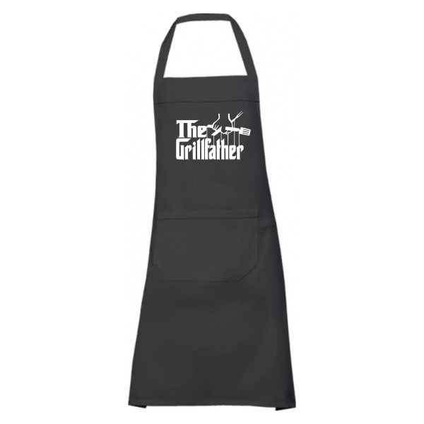 Schort the grillfather zwart 1