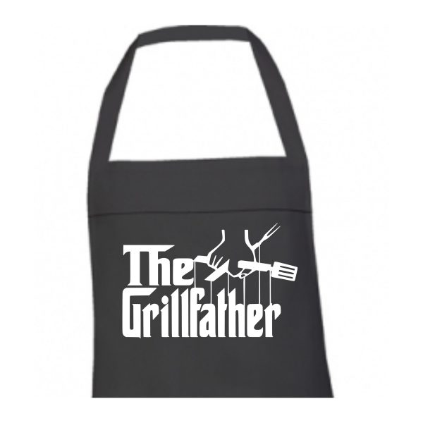 Schort the grillfather zwart 2