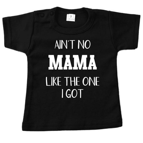 Shirt Ain't no mama zwart