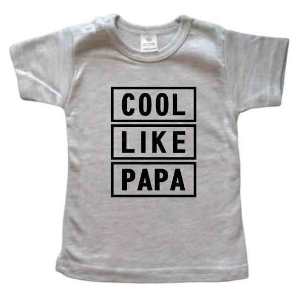 Shirt Cool Like Papa grijs