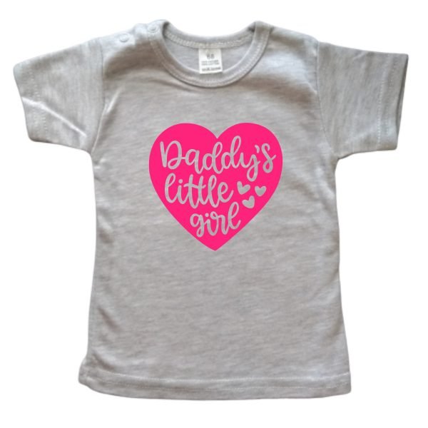 Shirt Daddy's Little Girl grijs