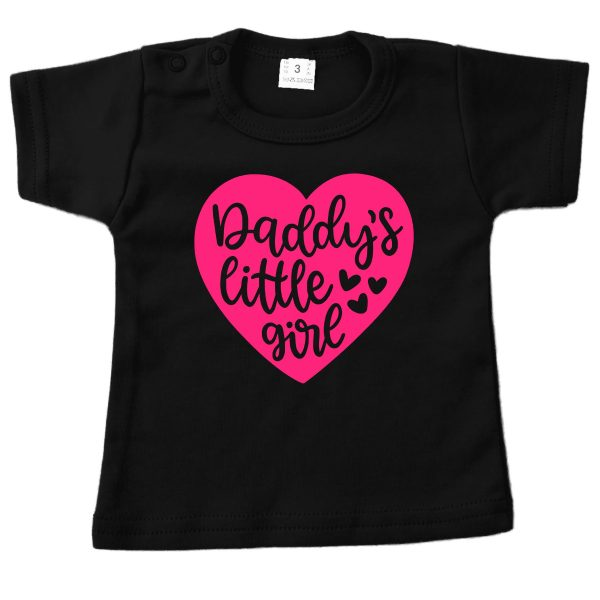 Shirt Daddy's Little Girl zwart