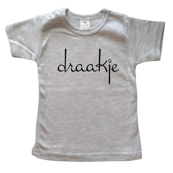 Shirt Draakje grijs