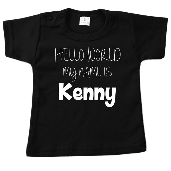 Shirt Hello World zwart