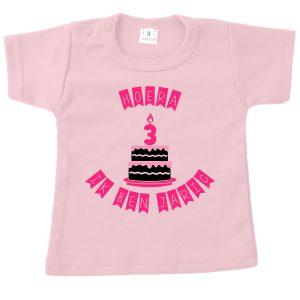 Shirt Hoera ik ben jarig roze
