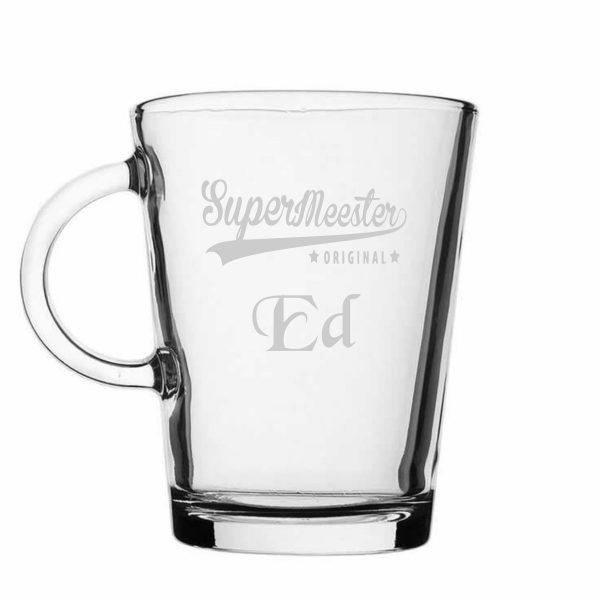 thee-koffieglas Supermeester