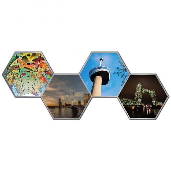 Hexagon collage rotterdam 1