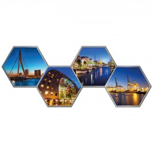 Hexagon collage rotterdam 4
