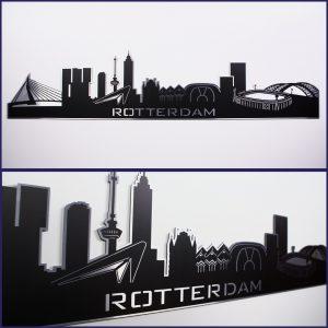Skyline Rotterdam Aluminium zwart
