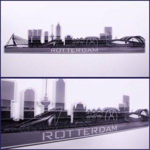 Skyline Rotterdam Plexiglas