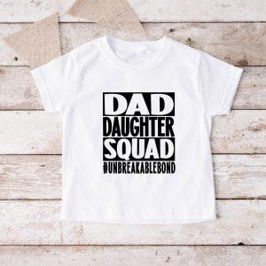 T-shirt Dad Daughter Squad kind wit