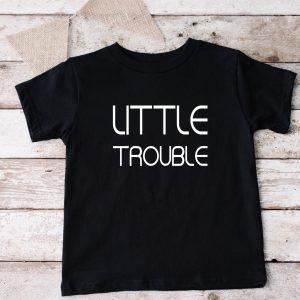 T-shirt Little Trouble zwart