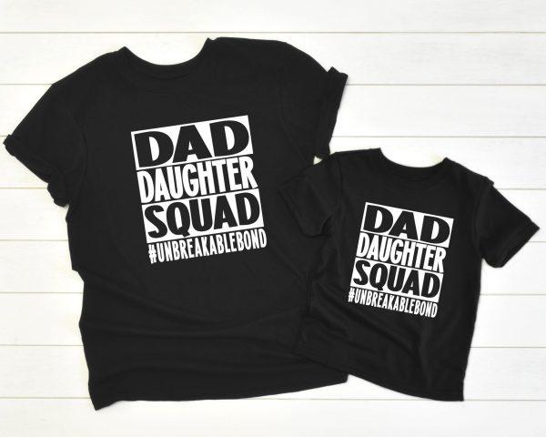 Twinning Dad Daughter Squad zwart